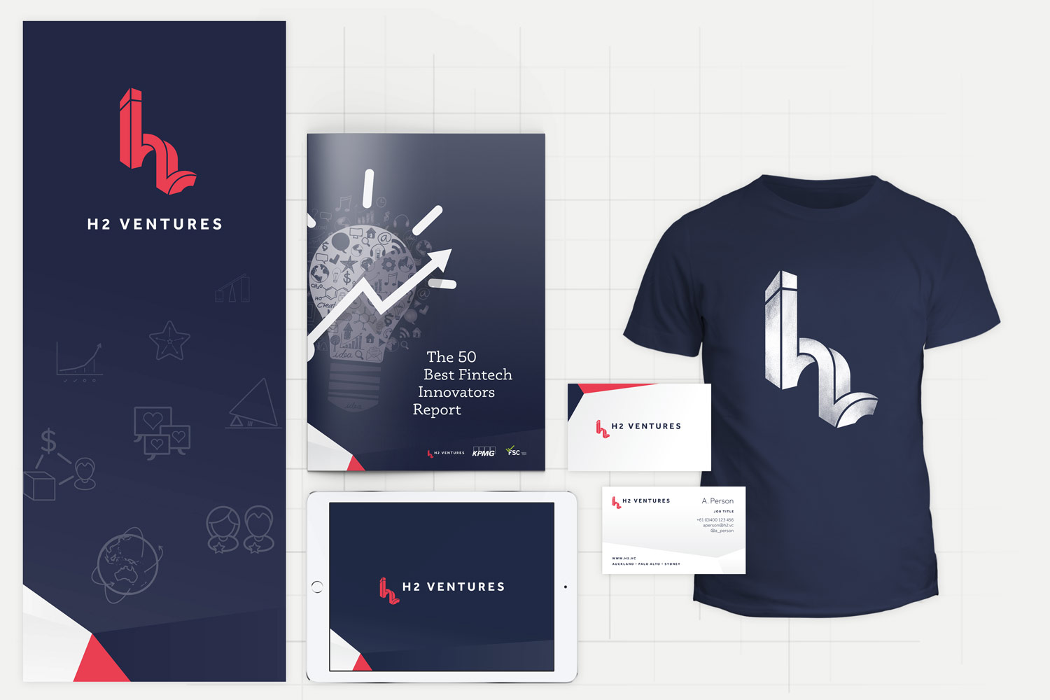 H2 Ventures brand design by Theysaurus